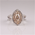 APP: 19.5k *14 kt. White/Rose Gold, 1.75CT Diamond Ring (NG R11096)