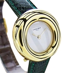 *18K Gold Chaumet Paris 750-A1040 Quartz Luxurious Ladies Dress Watch -P-