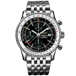 *Breitling Mens Navitimer Stainless Steel Case, Scratch-Resistant Sapphire Watch -P-