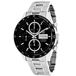 *Tag Heuer Mens Carrera Stainless Steel Case Scratch Resistant Sapphire Water Resistant Watch -P-